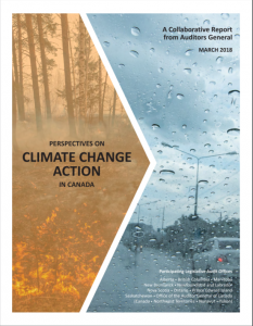 Perspectives on Climate Change Action in Canada—A Collaborative Report from Auditors General - Cover Page